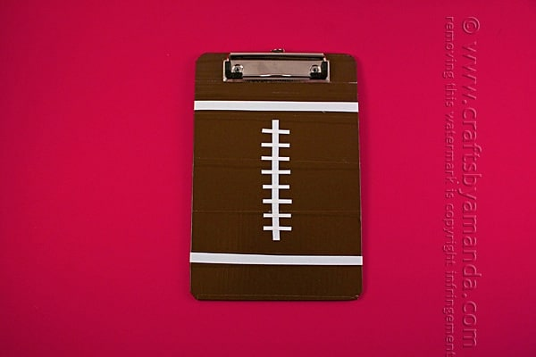 Duct Tape Football Clipboards by Amanda Formaro of Crafts by Amanda
