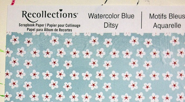 Recollections Watercolor Blue Ditsy