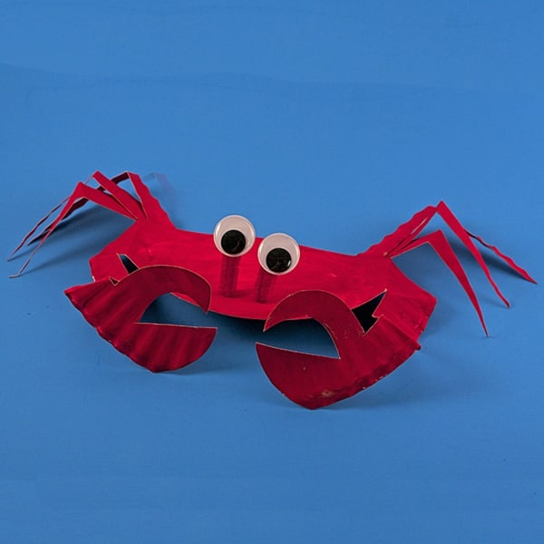 Paper Plate Sea Crab by Amanda Formaro of Crafts by Amanda