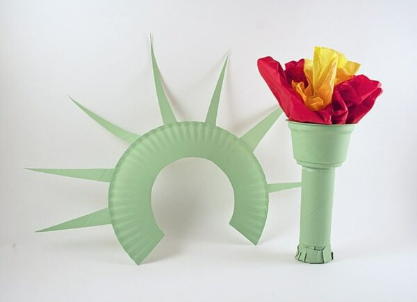 Statue of Liberty Crown and Torch Noise Maker by Amanda Formaro of Crafts by Amanda