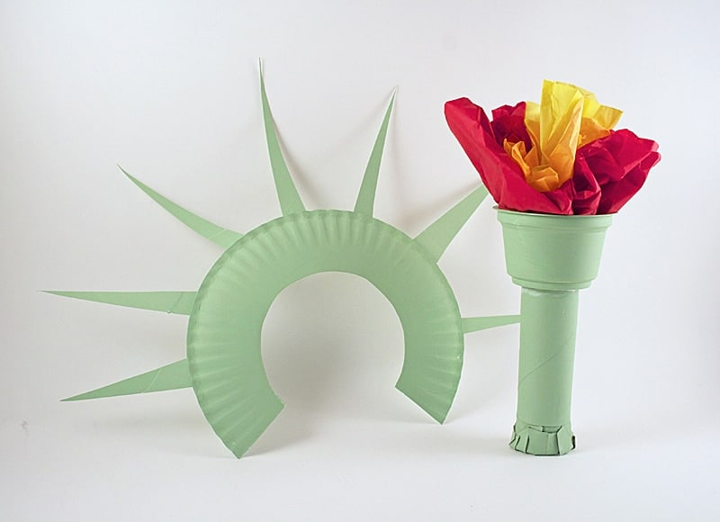 statue of liberty craft statue of liberty crown and torch noise maker crafts by 5492