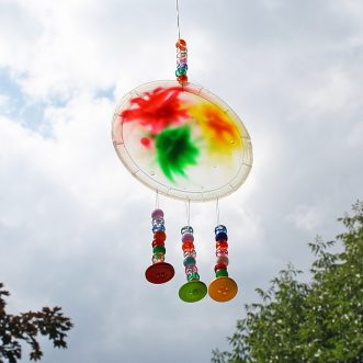 Colorful Sun Catcher from Glue