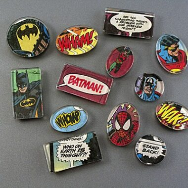 Superhero Comic Book Magnets by Amanda Formaro of Crafts by Amanda