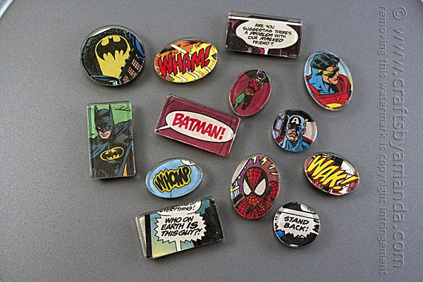 Superhero Comic Book Magnets
