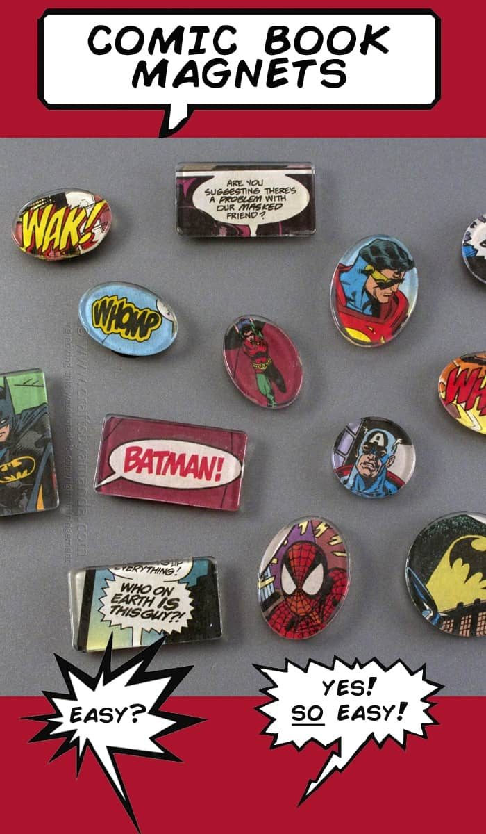 Comic Book Magnets | Super Cool DIY Christmas Gifts For Teens