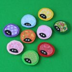 Ladybug Craft: Fabric Scrap Magnets