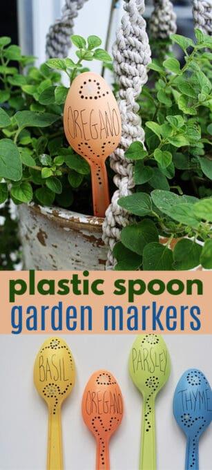 plastic spoon garden markers pin image