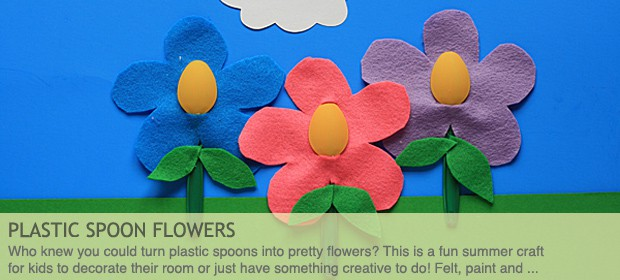 Plastic Spoon Craft: Felt Flowers