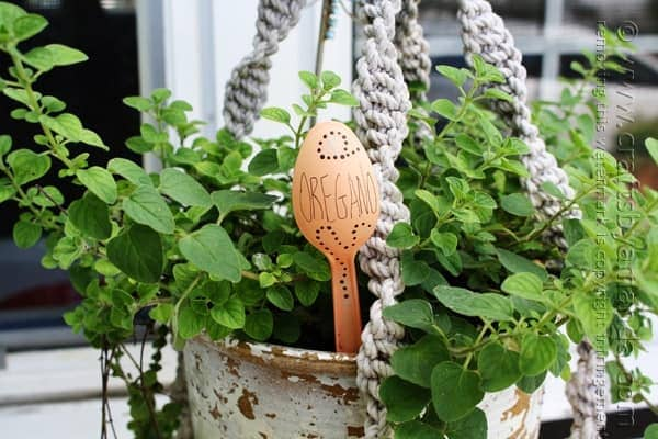 Plastic Spoon Garden Markers by Amanda Formaro of Crafts by Amanda