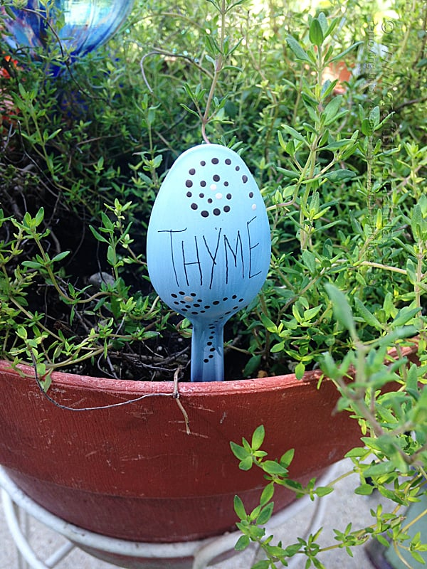 Plastic Spoon Garden Marker