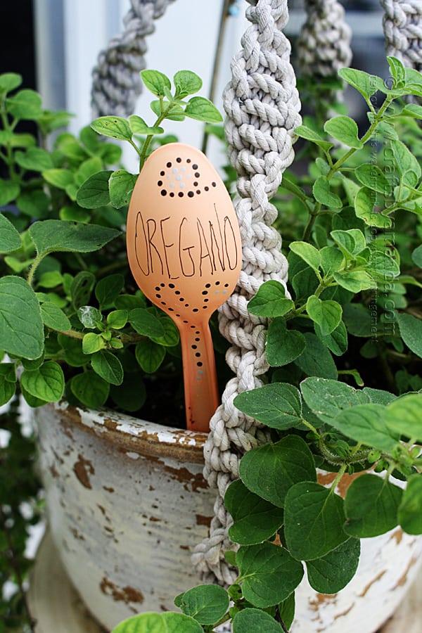 Plastic Spoon Garden Markers- Oregano