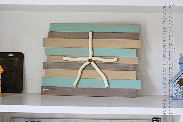 Rustic Starfish Craft: Wooden Ruler Plaque by Amanda Formaro of Crafts by Amanda