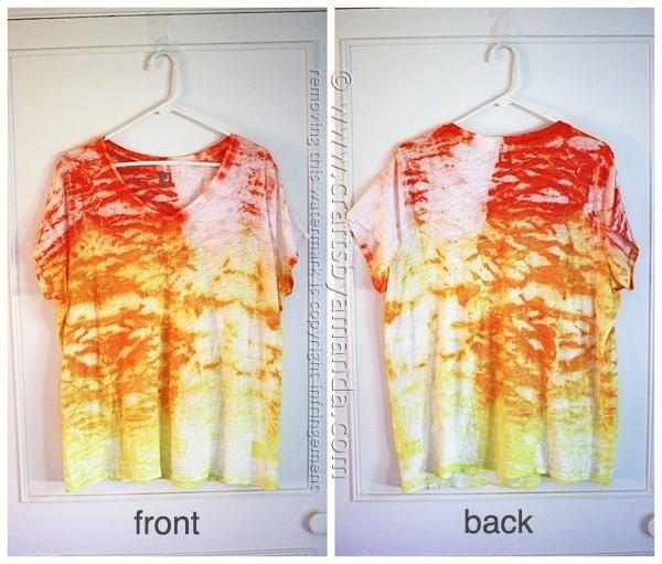 Sunshine Ombre Shibori Tie Dye Top by Amanda Formaro of Crafts by Amanda