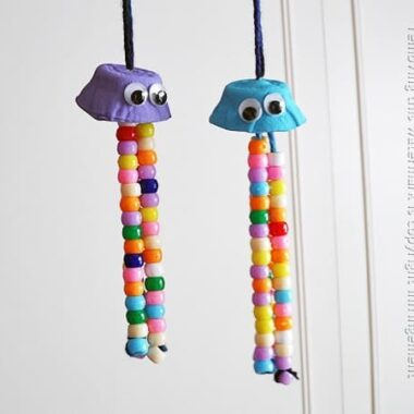 Egg Carton Crafts: Colorful Jellyfish by Amanda Formaro of Crafts by Amanda