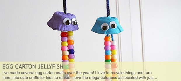 Egg Carton Crafts: Colorful Jellyfish