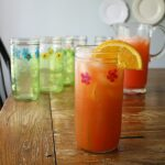 Pretty Painted Mason Jar Drinking Glasses by Amanda Formaro of Crafts by Amanda
