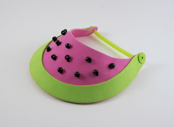 Watermelon Sun Visor by Amanda Formaro of Crafts by Amanda