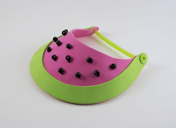 Watermelon Sun Visor by Amanda Formaro of Crafts by Amanda