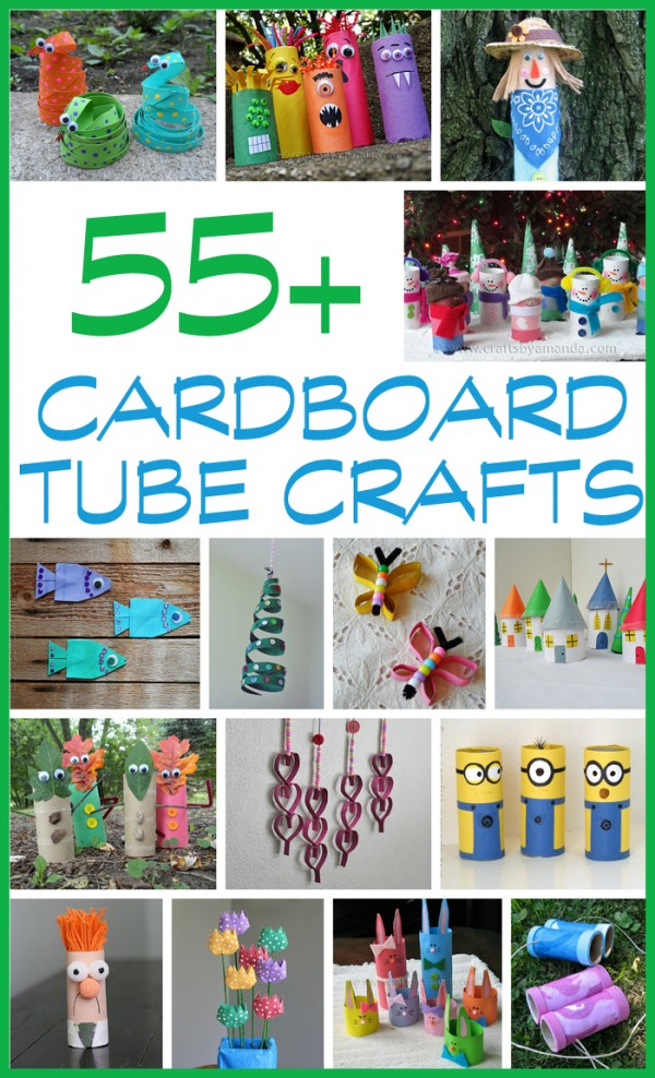 Holy cuteness! HOURS of fun for the kids!  55+ Cardboard Tube Crafts for Kids