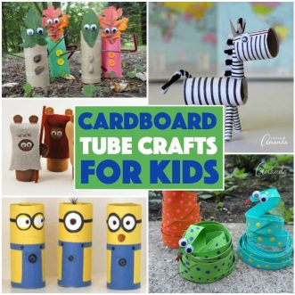 Looking for a fun craft made from recycled materials to keep your child busy this summer? These cardboard tube crafts for kids are the perfect solution.
