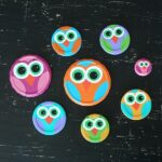 Owl Craft Using Recycled Jar Lids from Amanda Formaro of Crafts by Amanda