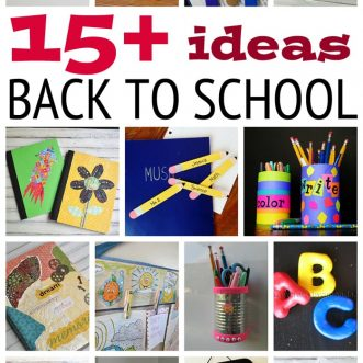 15+ Fun Back to School Ideas: bookmarks, pencil holders, book covers, cork boards, chalk boards, lots of ideas here! PLUS at the end links to even MORE ideas!!