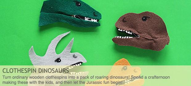 Clothespin Dinosaur Craft