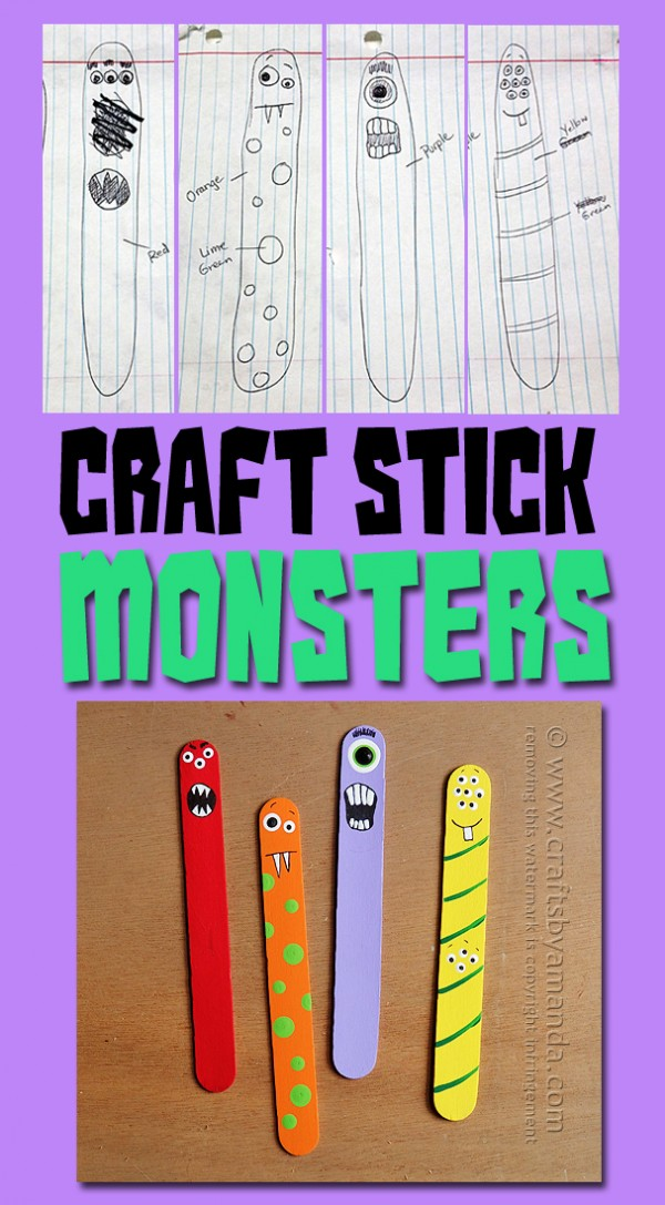 Monster Craft from Craft Sticks