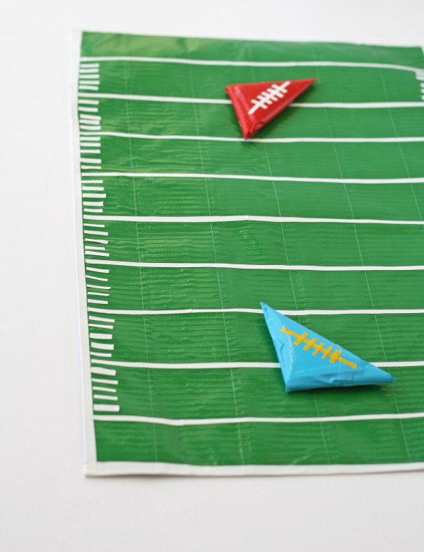 Learn to make this fun duct tape football field from Amanda Formaro of Crafts by Amanda