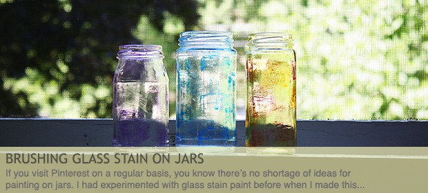Painting on Jars with Glass Stain