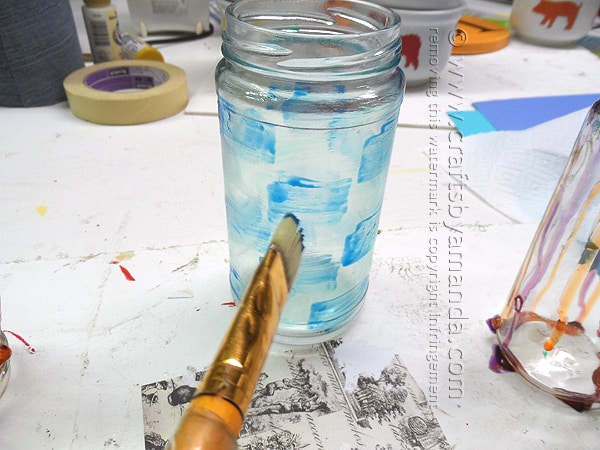 Painting on Jars with Glass Stain by Amanda Formaro of Crafts by Amanda
