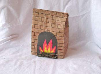 Paper Bag Fireplace - Crafts by Amanda