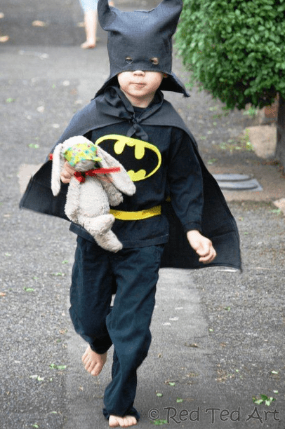 Upcycled Batman costume