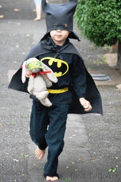 Upcycled Batman costume