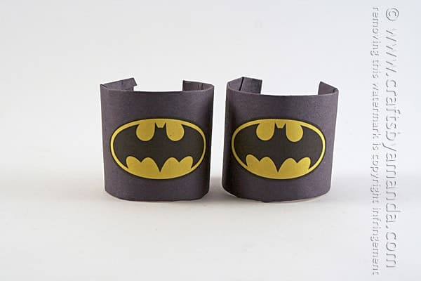Batman Craft Wrist Cuffs on Bat Crafts For Kids