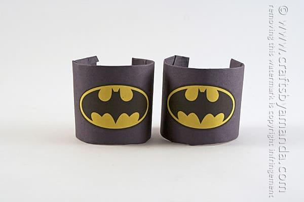 Batman Craft Cardboard Tube Wrist Cuffs Crafts By Amanda