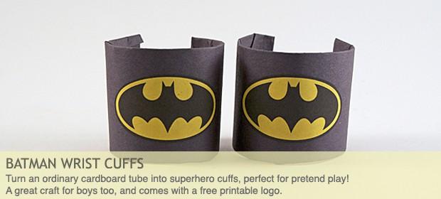 Batman Craft: Cardboard Tube Wrist Cuffs