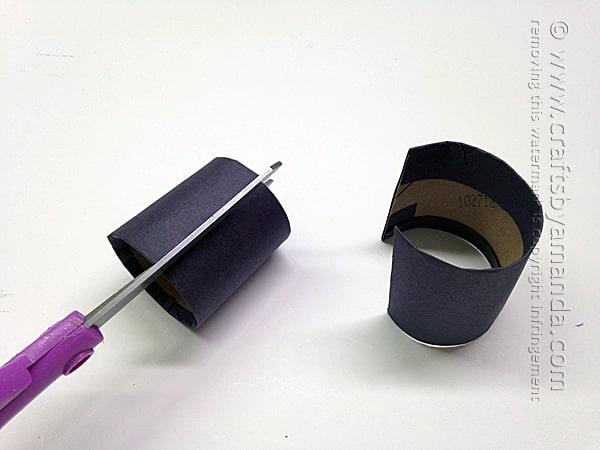 Batman Craft: Cardboard Tube Wrist Cuffs by Amanda Formaro of Crafts by Amanda