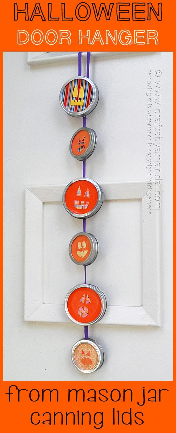 Jack O' Lantern Halloween Door Hanger - Amanda Formaro, Crafts by Amanda