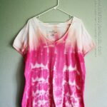 How to Tie Dye Cool Stripes by Amanda Formaro of Crafts by Amanda