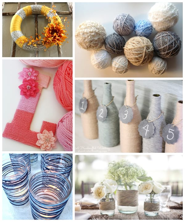 Yarn crafts easy and creative ways to use yarn without knitting or crocheting - Easy ways of adding color to your home without overspending ...