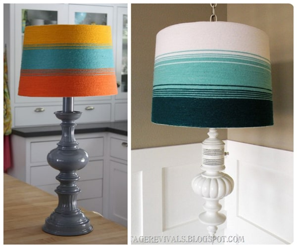 yarn lamp shades