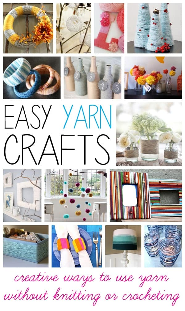 Yarn crafts collage