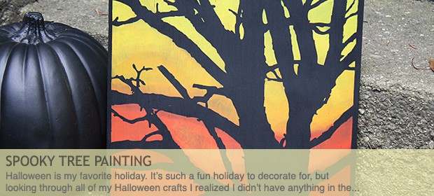 DIY Spooky Tree Painting for Halloween