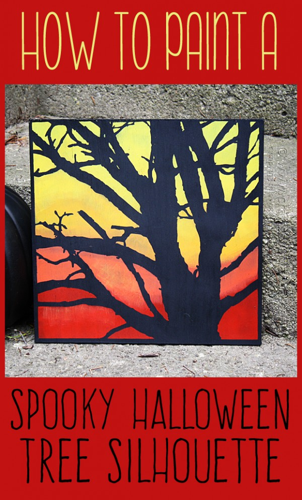 DIY Spooky Tree Painting for Halloween by Amanda Formaro of Crafts by Amanda