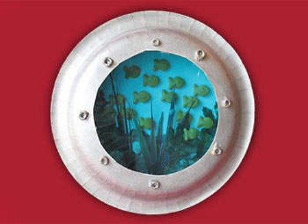 Paper Plate Porthole by Amanda Formaro of Crafts by Amanda