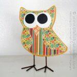 Owl Craft: Scrapbook Paper Decoupage