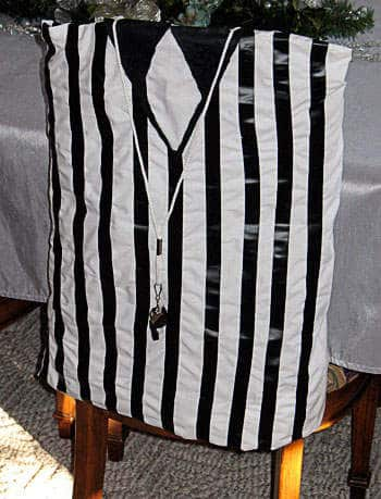 Football Craft: Referee Chair Cover by Amanda Formaro of Crafts by Amanda