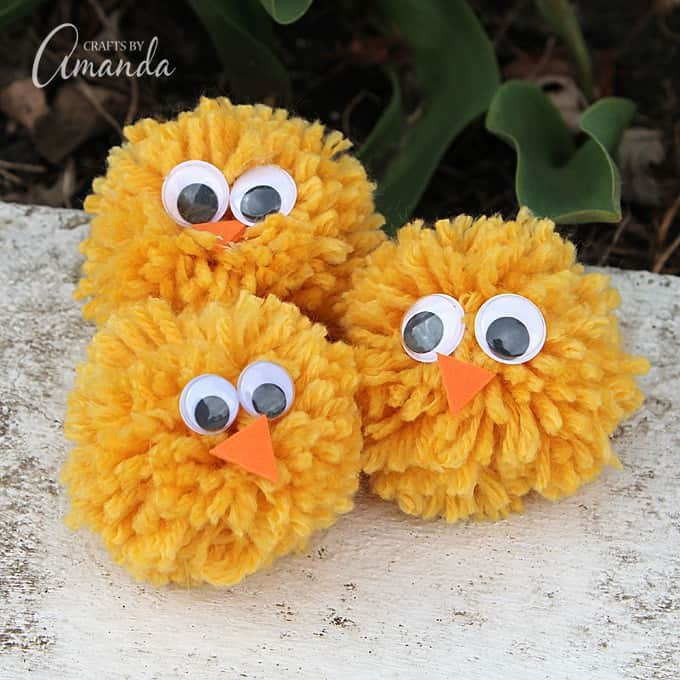 yarn crafts pom pom chicks