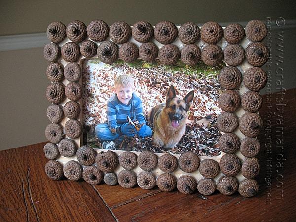 Acorn Frame - Amanda Formaro, Crafts by Amanda